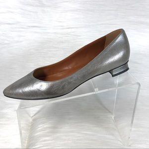 Aquatalia Pumps Silver Leather Size 8.5